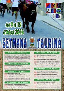 Cartel Semana Taurina
